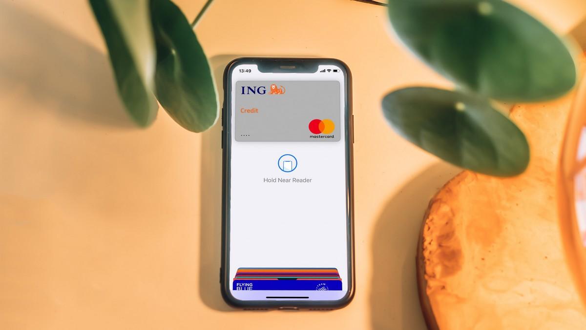 Mobilní telefon sloužící pro mobilní platby.